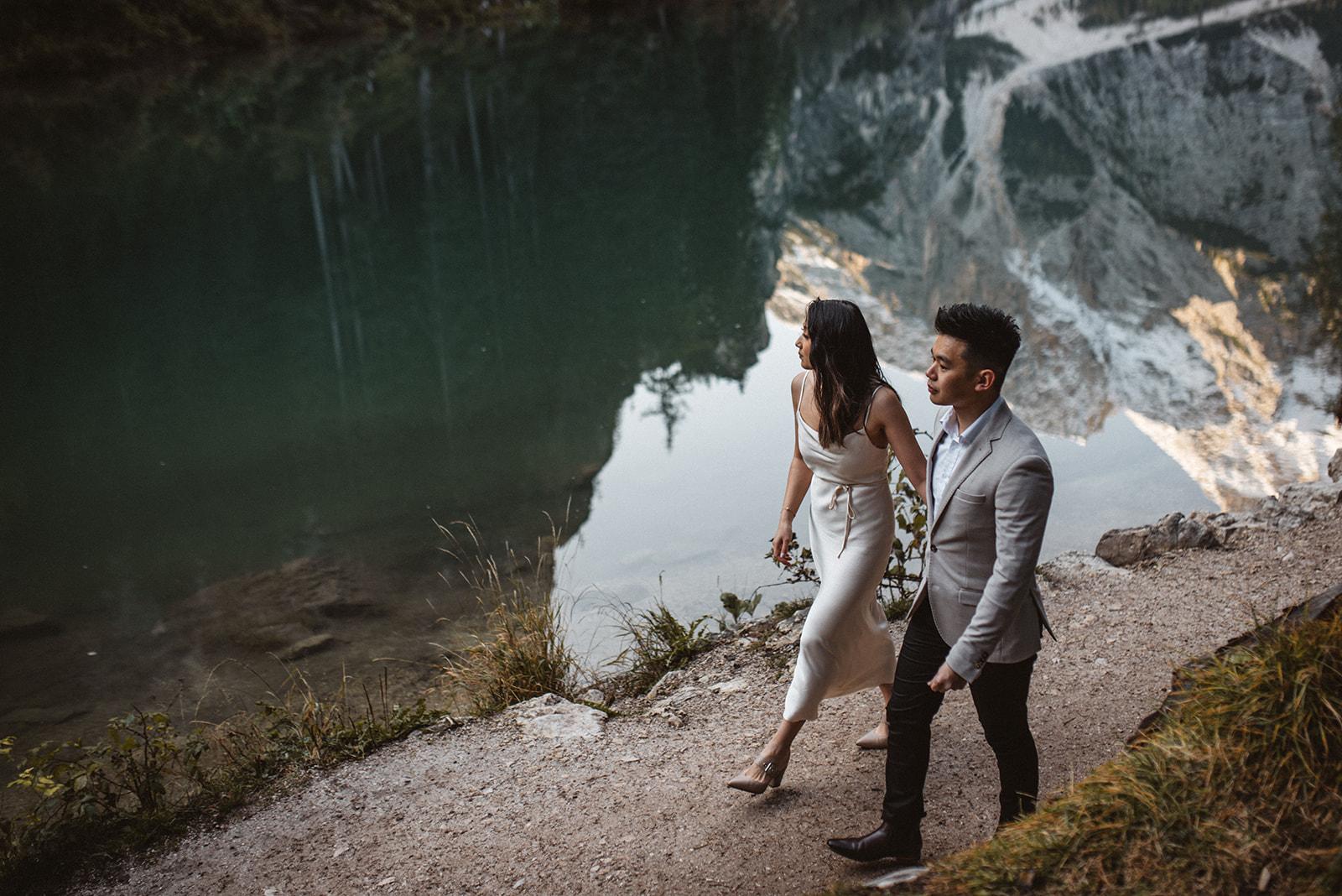 Lago di Braies Elopement Wedding